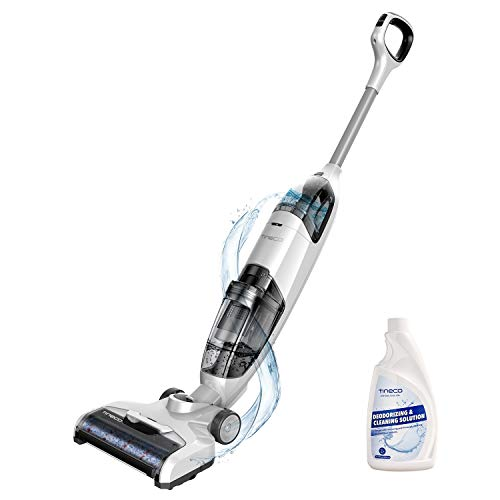 Tineco iFLOOR Cordless Wet Dry Vacuum Cleaner and Mop, Powerful One-Step Cleaning for Hard Floors, Great for Sticky Messes and Pet Hair