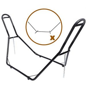 VALLEYRAY Portable Steel Hammock Stand with Carry Bag, 2 Person Heavy-Duty Universal Hammock Stand Only, Hammock Frame for Indoor Outdoor Yard Patio Deck
