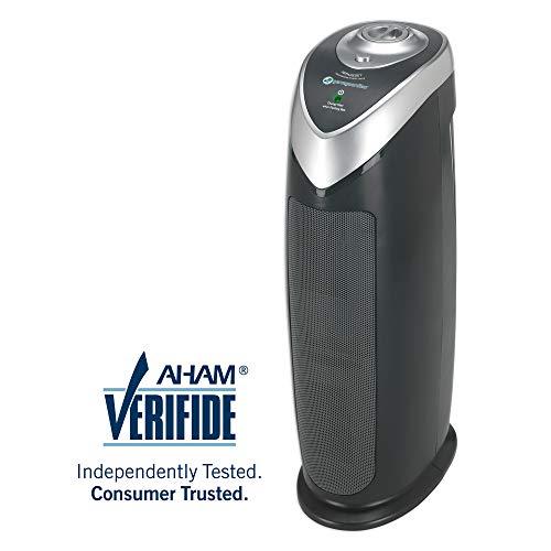 "Guardian Technologies Germ Guardian AC4820 22"" True HEPA, Full Room, Allergies, Smoke, Dust, Pet Dander, Odors, 3-Yr Wty, GermGuardian, Grey Filter Air Purifier for Home"