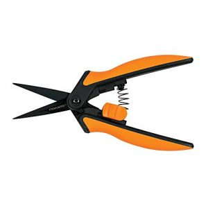 Fiskars Micro-Tip Pruner Non-Stick Blades, Orange/Black (399211-1003)