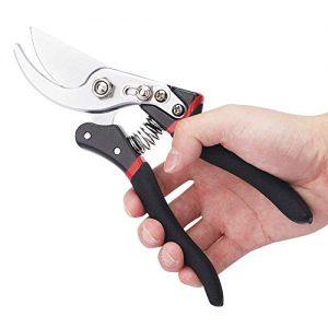 N / A Pruning Shears Hand Pruner Garden Hand Tools Scissors,Black,8.3 inch