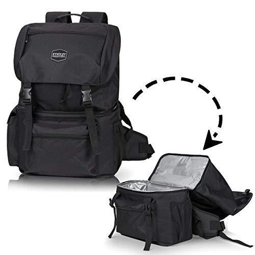 Kyndley Insulated Backpack Cooler. Lightweight Durable Leak Proof Cooler Bag for Hiking, Travel
