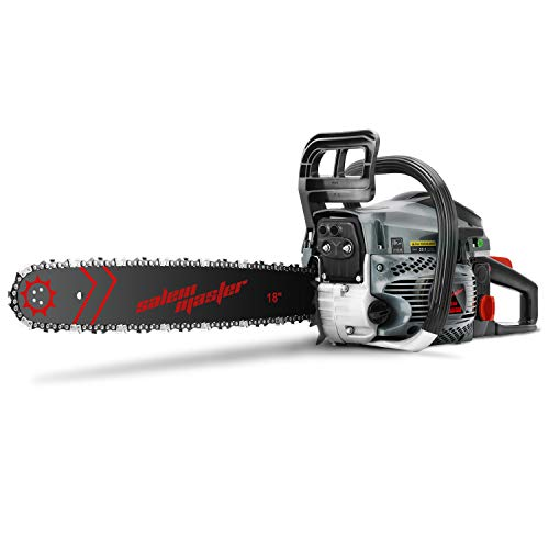SALEM MASTER 5820F 58CC 2-Cycle Gas Powered Chainsaw, 18-Inch Chainsaw, Handheld Cordless Petrol Gasoline Chain Saw for Farm, Garden and Ranch