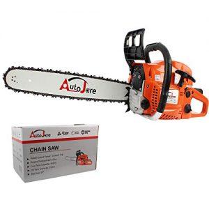 AUTOJARE New Gas Chainsaw,20'' Bar 52cc Gas Powered Chainsaw 2 Stroke Handed Petrol Gasoline Chain Saw for Cutting Wood
