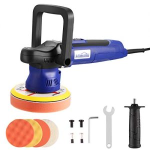 Polisher, HIMIMI 6 Inch Car Buffer Polisher Sander with 6 Variable Speed 2000-6400RPM, Detachable Handle, 4 Pads Ideal for Cars, Boats, Furnitures Polishing, Sanding and Waxing