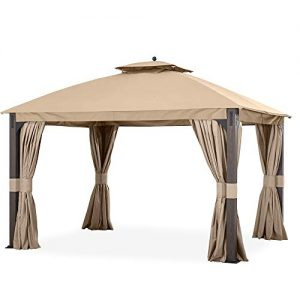 Garden Winds Replacement Canopy for The Shadow Creek Gazebo - Standard 350 - Beige