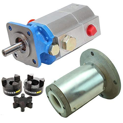 "RuggedMade Hydraulic Log Splitter Build Kit - 13 GPM Pump, Engine Mounting Bracket, Coupler for 3/4"" Engine Shaft"