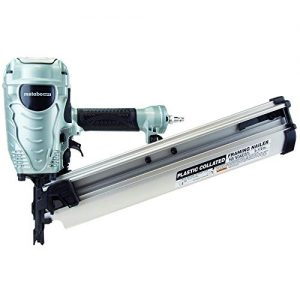 """Metabo HPT Framing Nailer, The Pro Preferred Brand of Pneumatic Nailers, 21° Magazine, Accepts 2"""" to 3-1/2"""" Framing Nails, (NR90AES1)"""