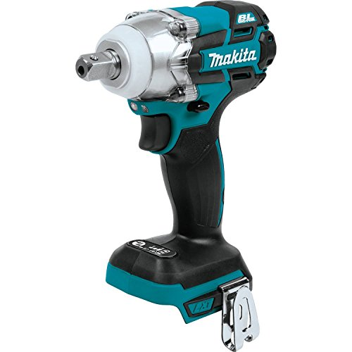 """Makita XWT11Z 18V LXT Lithium-Ion Brushless Cordless 3-Speed 1/2"""" Sq. Drive Impact Wrench, Tool Only"""
