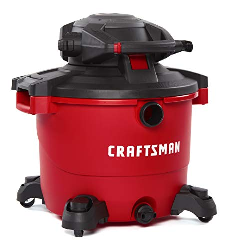 CRAFTSMAN CMXEVBE17607 16 gallon 6.5 Peak Hp Wet/Dry Vac with Detachable Leaf Blower, Heavy-Duty Shop Vacuum with Attachments