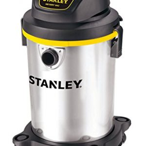 Stanley 4 Gallon Wet Dry Vacuum , 4 Peak HP Stainless Steel 3 in 1 Shop Vac, Multifunctional Shop Vacuum W/ 4 Horsepower Motor for Job Site,Garage,Basement,Van,Workshop