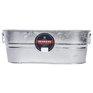 Behrens 0-OV Hot Dipped Galvanized Steel Oval PlanterTub, 5-1/2-Gallon