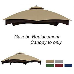 ABCCANOPY Gazebo Replacement Canopy 10'x12' for Lowe's 10' x 12' Gazebo Model #GF-12S004BTO/GF-12S004B-1(Beige)