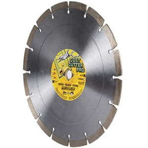 "Cost Cutter Pro Wet/Dry Segmented Diamond Blade for Masonry, Stone, Concrete, Roof Tile and Similar Materials (10"" X .100 X DM-7/8""-5/8"" Arbor)"