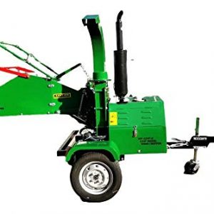 Diesel 22 HP Log Wood Chipper Cutter Mulcher Shredder 8 Inch Capacity, Electric Start, Tow Package, 1 Year Warranty