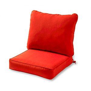 Greendale Home Fashions AZ7820-SALSA Fire Outdoor 2-Piece Deep Seat Cushion Set
