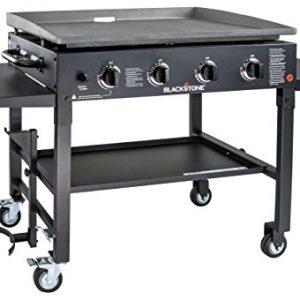 """Blackstone 1554 Station-4-burner-Propane Fueled-Restaurant Grade-Professional 36 inch Outdoor Flat Top Gas Grill Griddle Station-4-bur, 36"""" - 4 Burner"""