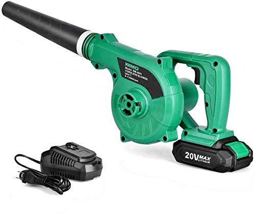 Cordless Leaf Blower - KIMO 20V Lithium 2-in-1 Sweeper/Vacuum 2.0 AH