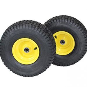 (Set of 2) 15x6.00-6 Tires & Wheels 4 Ply for Lawn &