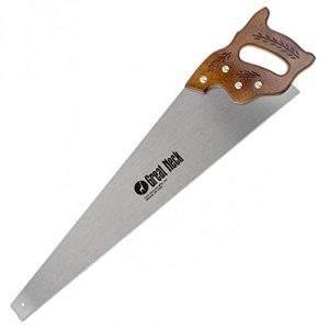 GreatNeck N2610 - 26 Inch 12 TPI Cross Cut Hand Saw - Hardwood Handle