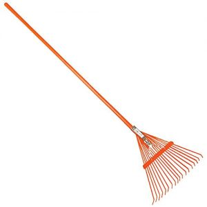 A.M. Leonard Spring Rake, 18 Inches/18 Tines, 54 Inch Length, TuffStrong Fiberglass Handle