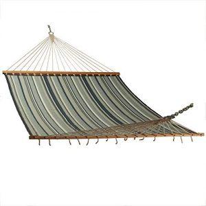 East Coast Hammocks Large Polyester Quilted Hammock - Onyx Stripe