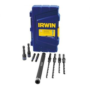 IRWIN Concrete Drill Bit Set with Driver Bits, 5/32-3/16-Inch, Impact Performance, 9-Piece (1881131)