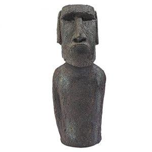 Design Toscano NY1500 Easter Island Ahu Akivi Moai Monolith Garden Statue, Small, 16 Inch, Polyresin, Grey Stone