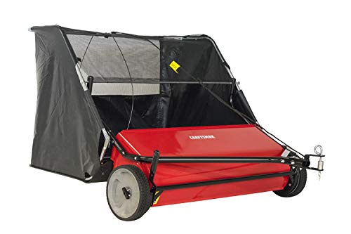 CRAFTSMAN 42 22-cu ft Hi-Speed Tow Lawn Sweeper, Red
