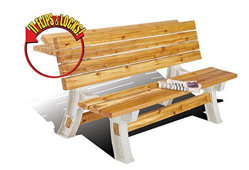 2x4basics 90110ONLMI 90110 Flip Top BenchTable, Patio Table, Sand