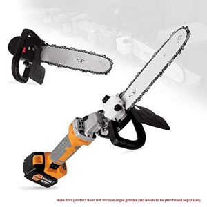 "Electric Chainsaw-11.5"" Electric Chainsaw Polishing Machine Angle Grinder into Saw Chain Woodworking Tool"