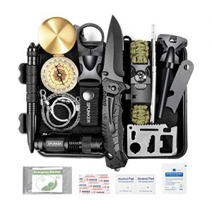 SPUNKER Gifts for Men Dad Fathers Day,15 in 1 Survival Kit,Birthday Gifts Ideas for Him Husband Boyfriend Teen Boy,Cool Gadget, Fishing,Camping,Survival Gear