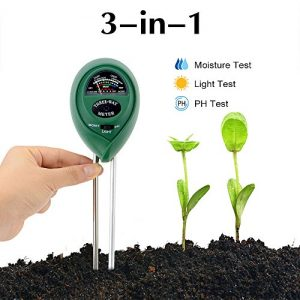Abafia Moisture Meter, Soil ph Meter, Light Meter 3 in 1 Soil Testing Kit No Battery Need Plug and Play, can be Used Indoors and Outdoors for Plant Care, Great for Garden, Lawn, Farm