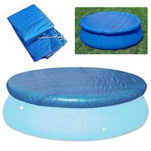Lixada Round Pool Cover Water Resistant PE Swimming Pool Cover Pool Round Cover Cloth Dust-Proof Tarpaulin, Round Easy Set Pool Cover