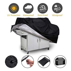 LWXQY Heavy Duty Oxford Cloth Outdoor Grill Cover, Barbecue Protective Cover Furniture Dust Cover UV Protection/Waterproof/Moisture