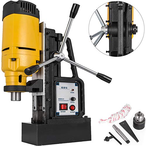 Mophorn 1200W Magnetic Drill Press with 9/10 Inch (23mm) Boring Diameter Magnetic Drill Press Machine 2920 Lbs Magnetic Force Magnetic Drilling System 500RPM Portable Electric Magnetic Drill Press