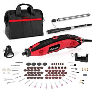 Rotary Tool Kit 1.5 Amp with 110pcs Accessories, Variable Speed, 3 Attachments (Flex shaft, Holder Hanger and Cutting Guide) for Home and Crafting Projects