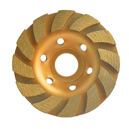 Gunpla 4 inch Concrete Turbo Diamond Grinding Disc Wheel 12 Segs Cup Masonry Granite Stone Cutting Heavy Duty Tool for Angle Grinder 105mm x 22.2mm