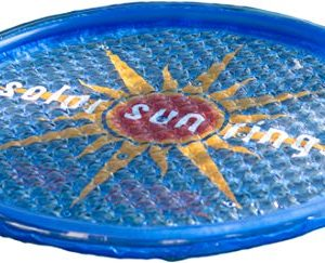 Solar Sun Ring with Sunburst Design