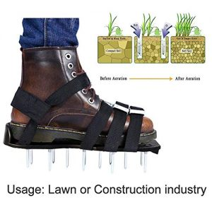 Garden Grass Aerator Spike Sandals, Lawn Aerator Shoes Anti-Slip Solid Durable Scarifier Garden Spiked Shoes
