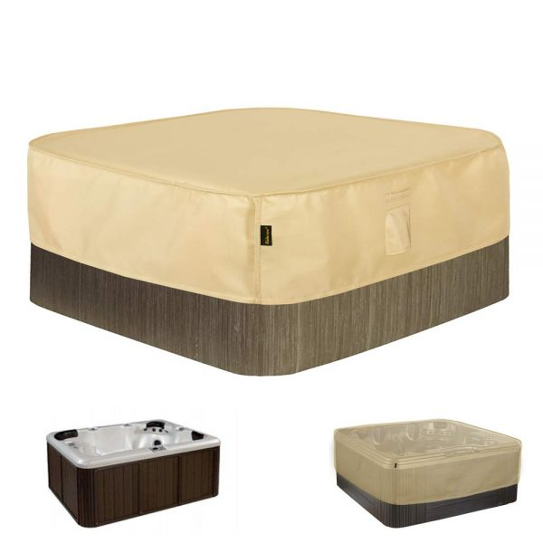 """Hentex Square Hot Tub Cover Outdoor SPA Covers (86"""" Lx86 Wx14 H)"""