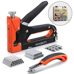 REXBETI Staple Gun with Remover, Heavy Duty 3 in 1 Staple Gun with 2600-Piece Staples for Upholstery, Fixing Material, Decoration, Carpentry, Furniture