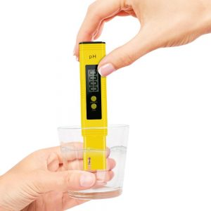 Digital PH Meter Tester Kit, High Accuracy Pocket Size PH Meter for Water, Digital ph Test Pen with 0-14 PH Measurement Range for Household Drinking Water, Aquarium, Swimming Pools