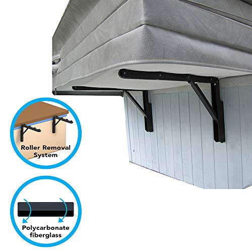 Puri Tech Cover Lifts - Glide Side Mount Spa & Hot Tub Cover Lift Removal System Rollers Polycarbonate Fiberglass Structure Fits Most Spas & Hot Tubs