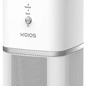 KOIOS Air Purifier, True HEPA Filter Air Purifier for Home, Offices & Bedrooms, Air Cleaner for Allergies and Pets, Smokers, Mold, Pollen, Dust, Whisper-Quiet, 100% Ozone-Free
