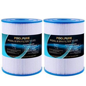 POOLPURE NSF-50 Certified Watkins 31114 Replacement Tiger River Spa Filter, Compatible Unicel C-8465, Pleatco PWK65, Filbur FC-3960, 71827, 71828 Hot Tub Filter, 65 sq. ft Hot Spring Spa Filter