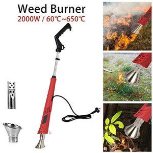 Electric Weed Burner, Weed Killer, Thermal Weeding Stick, Barbecue Igniter, Electric Lawnmower Weeder Power Tool, Up to 650℃, Garden Tools, 1.8M Cable
