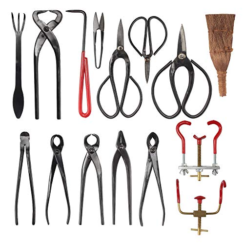 BambooMN Bonsai Kit 15pc Master Tool Set
