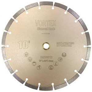 "CYCLONE VSS 10 inch Dry or Wet Cutting General Purpose Power Saw Segmented Diamond Blades for Concrete Stone Brick Masonry (10"")"