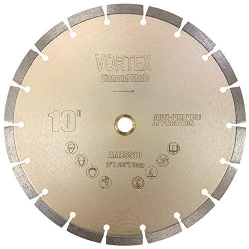 "CYCLONE VSS 10 inch Dry or Wet Cutting General Purpose Power Saw Segmented Diamond Blades for Concrete Stone Brick Masonry (10"")"